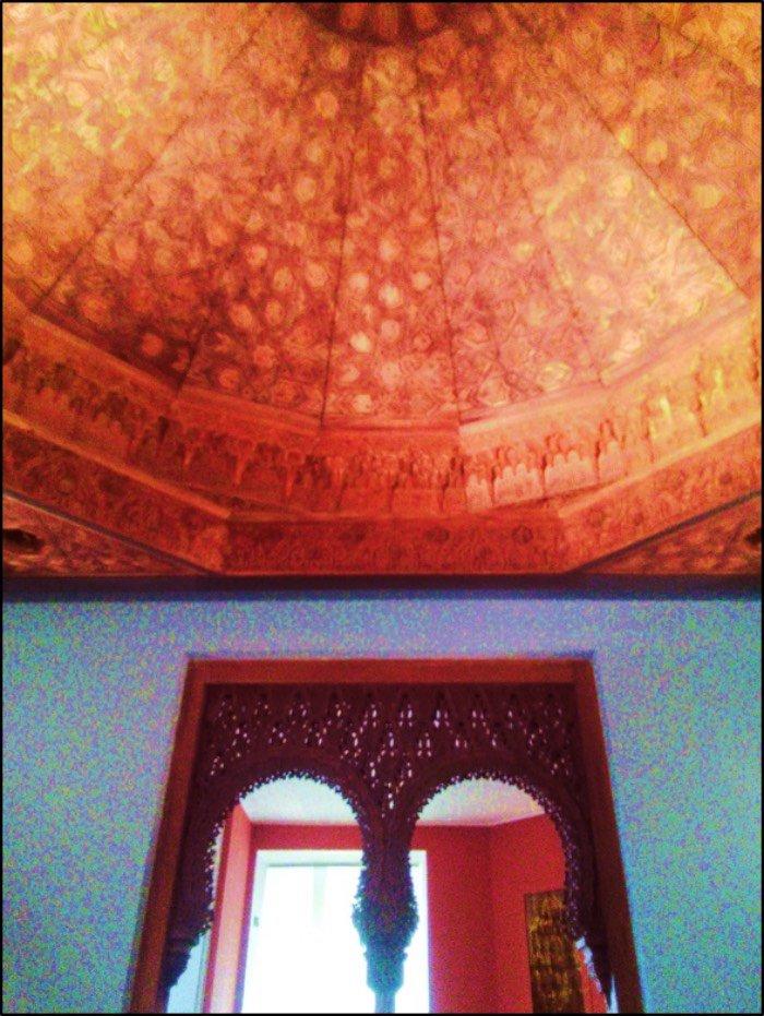 cupola di Alhambra in legno di cedro e pioppio intagliato consigli viaggio berlino