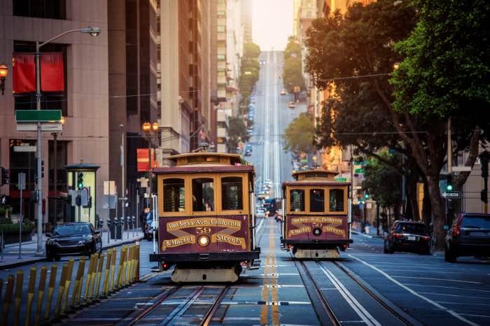 Cable Car Hotel San Francisco  California Street