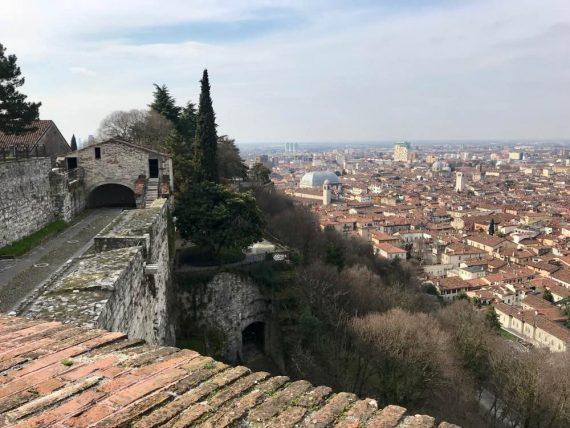 Vista castello Brescia