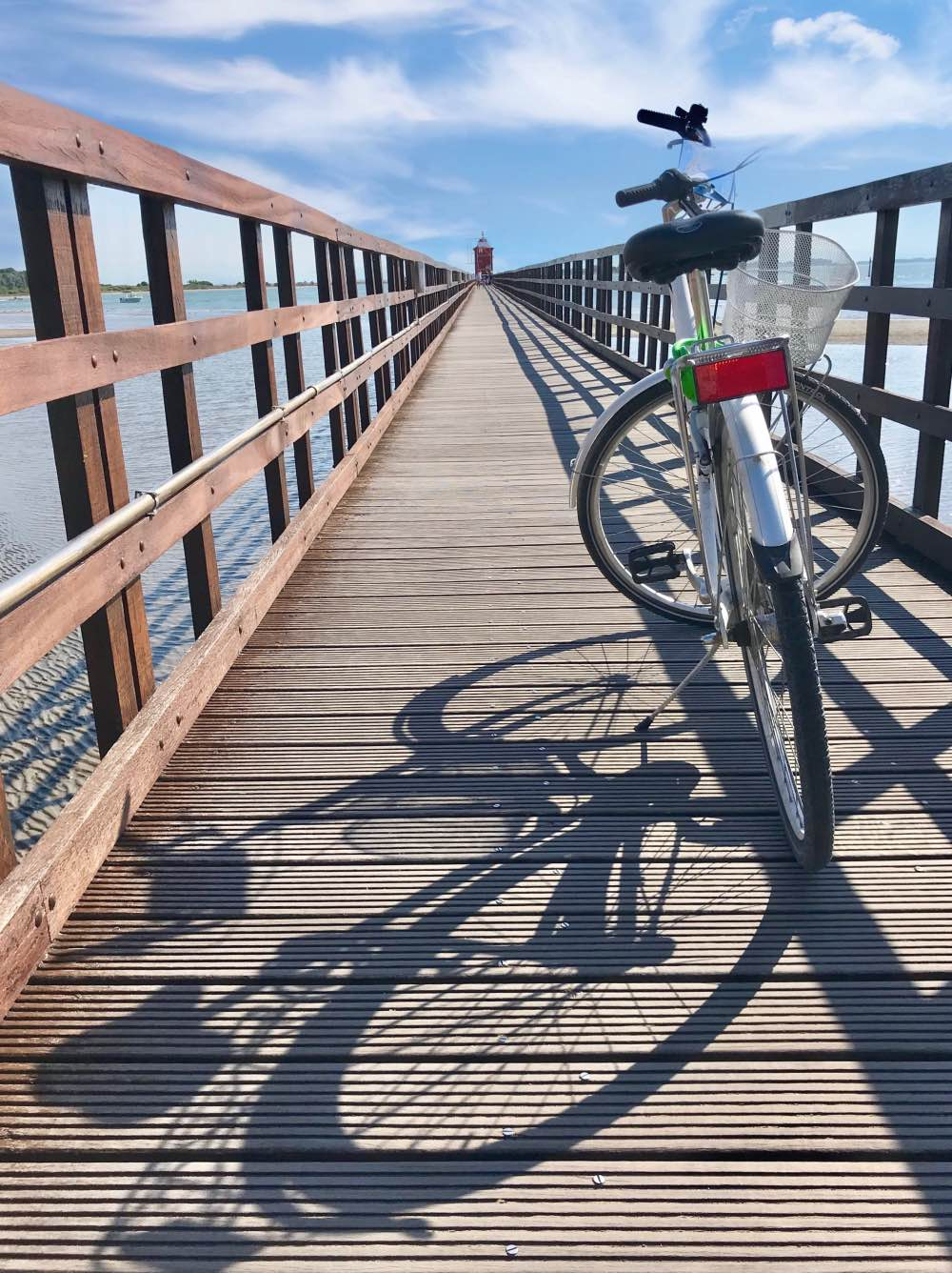 Bicicletta molo Lignano Sabbiadoro