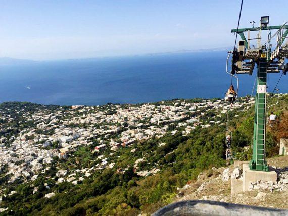 vista dalla seggiovia monte Solaro Capri