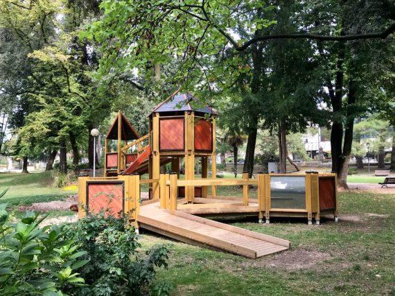 Giardini Remondini, scultura moderna Bassano del Grappa