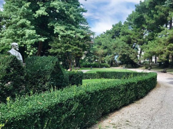 Giardino Parolini sentiero nel verde Bassano del Grappa