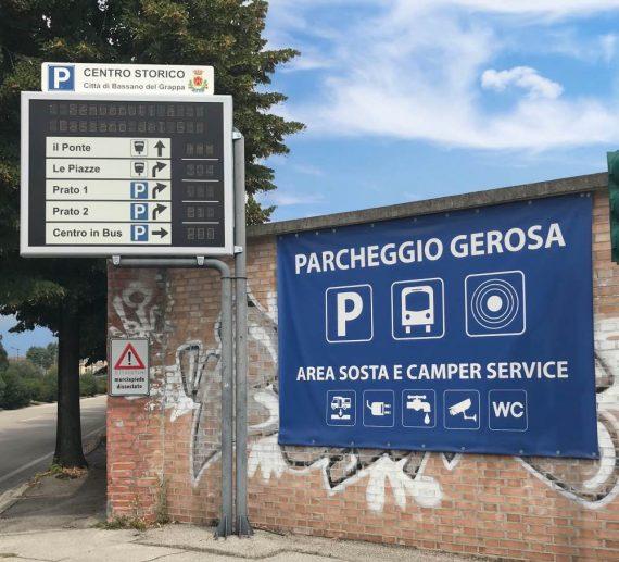 Parcheggio Gerosa o parcheggio bus in centro Bassano del Grappa