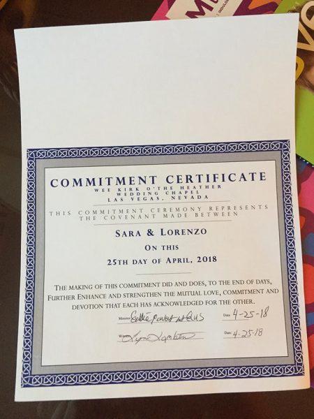 certificato matrimonio Las Vegas