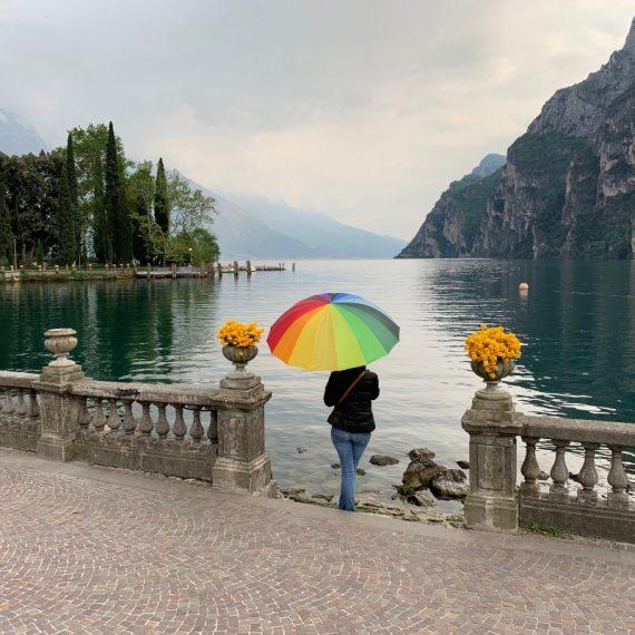 Riva del Garda con pioggia