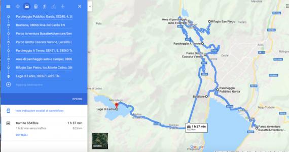 Itinerario trentino lago di Garda